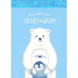 Hug Makes Heart Warm Mini Memo Pad