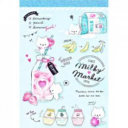 Milky Market Memo Pad
