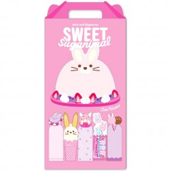 Sweet Suganimal Bunny Memo & Sticky Notes Set