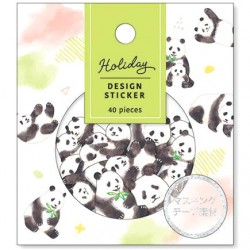 Saco Stickers Holiday Pandas