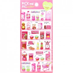 Pick Me Red Market Stickers