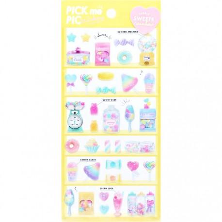 Pick Me Rainbow Sweets Stickers