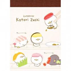 Mini Bloco Notas Kotori Zushi