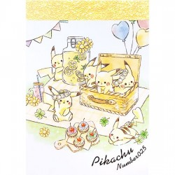 Mini Bloco Notas Pikachu Picnic
