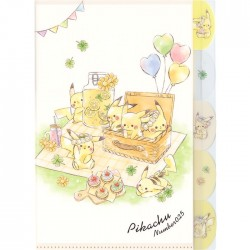 Carpeta Clasificadora Index Pikachu Picnic