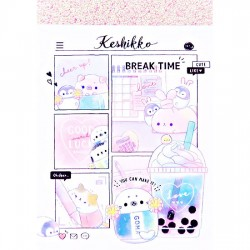 Keshikko Break Time Mini Memo Pad