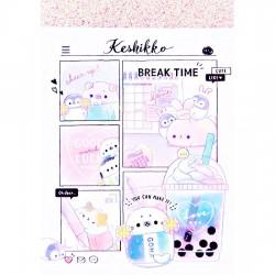 Mini Bloc Notas Keshikko Break Time