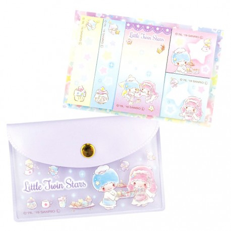 Little Twin Stars Tea Party Sticky Notes Pouch