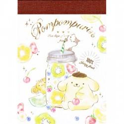Mini Bloco Notas Pompom Purin Juicy Fruit