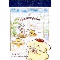 Mini Bloc Notas Pompom Purin Enjoy Sweets