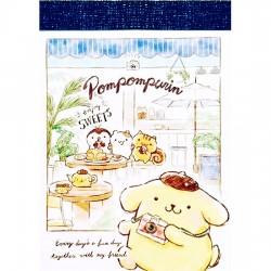 Pompom Purin Enjoy Sweets Mini Memo Pad