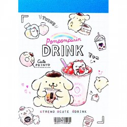 Mini Bloco Notas Pompom Purin Drink