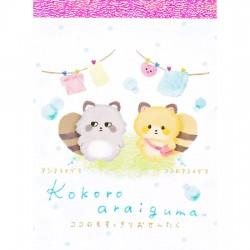 Mini Bloco Notas Kokoro Araiguma Laundry