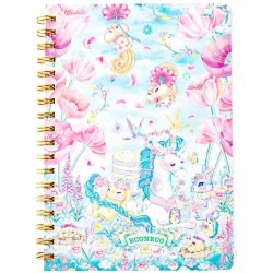 Animal Parade Flower Shower B6 Notebook