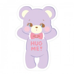 Hug Me! Bear Removable Die-Cut Sticker
