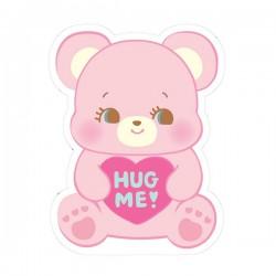 Hug Me! Heart Bear Removable Die-Cut Sticker