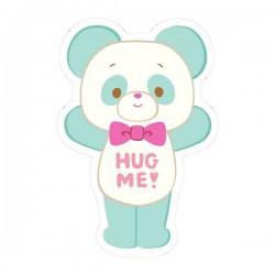 Hug Me! Panda Removable Die-Cut Sticker