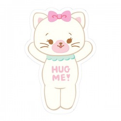 Hug Me! Kitty Removable Die-Cut Sticker
