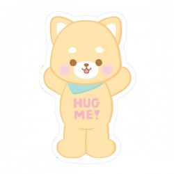 Sticker Hug Me! Shiba Puppy Reposicionável