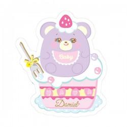 Hug Me! Baby Bear Removable Die-Cut Sticker