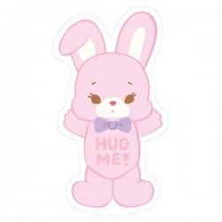 Hug Me! Bunny Removable Die-Cut Sticker