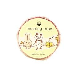 Animals Train Die-Cut Washi Tape