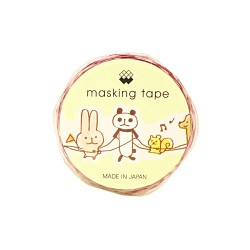 Washi Tape Die-Cut Animals Train