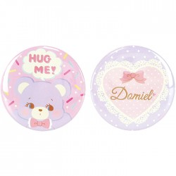 Hug Me! Bear Button Badges Set