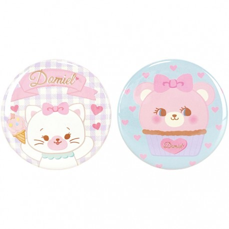 Hug Me! Kitty & Cupcake Bear Button Badges Set