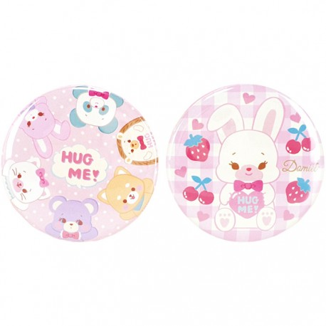 Hug Me! Domiel Characters Button Badges Set