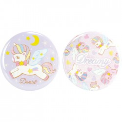 Dreamy Sky Unicorn Button Badges Set