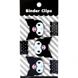 Kuromi Face Binder Clips Set