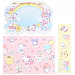 Sanrio Characters Rainbow Sky Message Cards Set