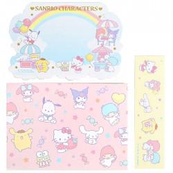 Set Cartões Memo Sanrio Characters Rainbow Sky
