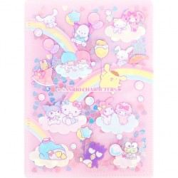Carpeta Sequins Sanrio Characters Rainbow