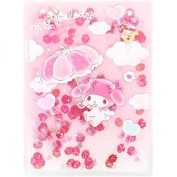 My Melody Strawberry Umbrella Sequins B6 File Folder