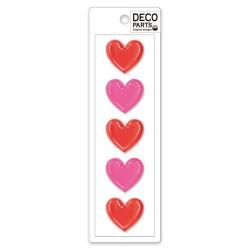 Set Apliques Deco Hearts
