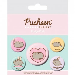 Pusheen Nah Button Badges Set