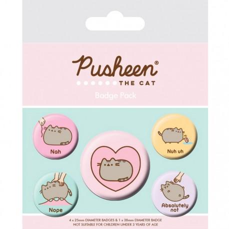 Pusheen Nah Button Badges Set