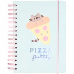 Caderno Bullet Journal A5 Pusheen Pizza Purrty