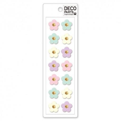 Set Apliques Deco Pastel Flowers