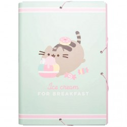 Pusheen Ice Cream For Breakfast Elastics File Folder