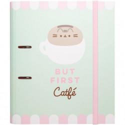 Archivador Pusheen But First Catfé