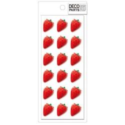 Deco Strawberries Cabochons Set