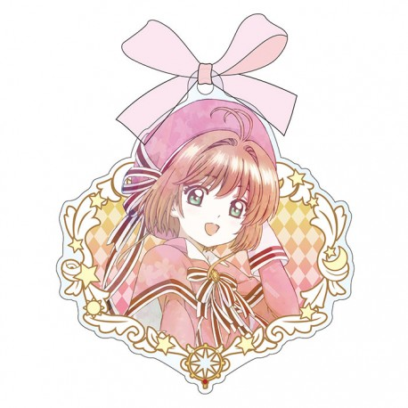 Cardcaptor Sakura Clear Card Bow Keychain
