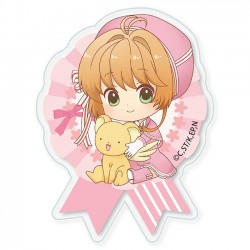 Cardcaptor Sakura Clear Card Pink Ribbon Dress Brooch