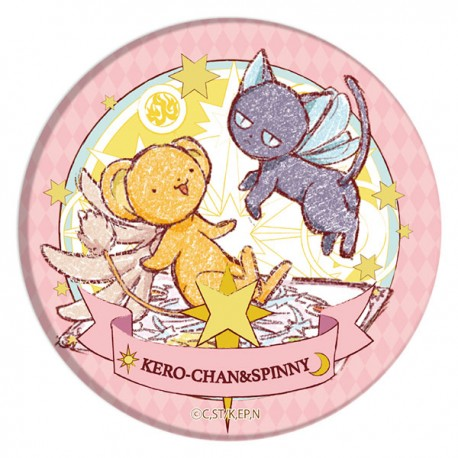 Cardcaptor Sakura Clear Card Kero-Chan & Spinny Graff Art Button Badge