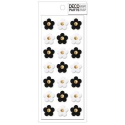Deco Mono Flowers Cabochons Set