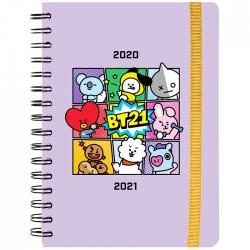 Agenda Escolar 2020/21 A5 Semanal BT21 Comics
