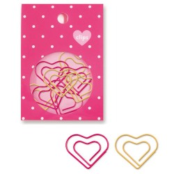 Hearts Paper Clips Set